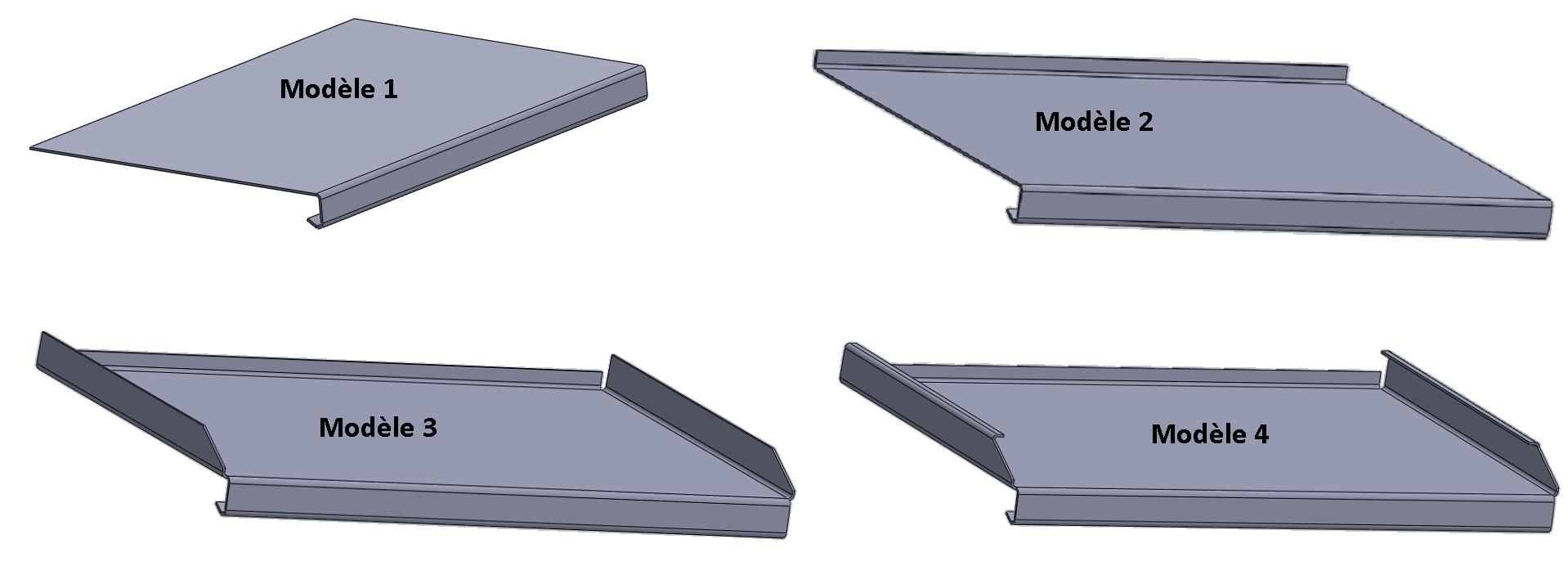 Tablettes de fen tre t le laser s rl - Tablette de fenetre exterieur alu ...